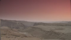 Desert dawn pan 4 Stock Footage