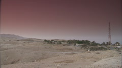 Desert dawn pan 5 Stock Footage