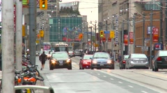 Traffic downtown toronto Stock Footage