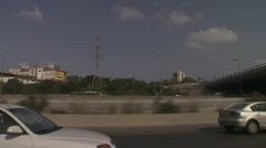 Tel aviv Ayalon drive 3 Stock Footage