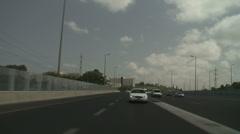 Tel aviv Ayalon drive 4 Stock Footage