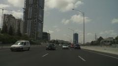 Stock Video Footage of Tel aviv Ayalon drive 6