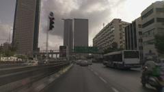 Tel aviv Azrieli drive 1 - stock footage
