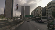 Stock Video Footage of Tel aviv Azrieli drive 1