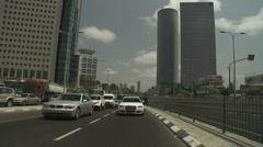 Tel aviv Azrieli drive 4 - stock footage
