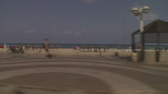 Tel aviv seashore drive 2 Stock Footage