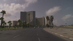 Tel aviv seashore drive 6 Stock Footage
