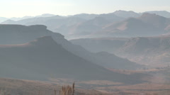 View of Maluti Mountains in Lesotho Stock Footage