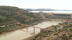 Elevated view of Gariep Dam wall Stock Footage