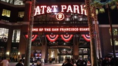 Giants ATT Ball Park - stock footage