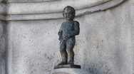 Stock Video Footage of figure of boy urinating Manneken Pis