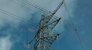 Stock Video Footage of Electricity Pylon
