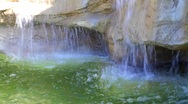 Wishing fountain, coins in the water Stock Footage