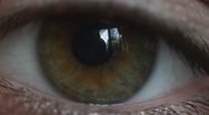 Eye, a close up Stock Footage