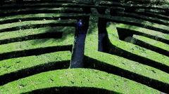 Stock Video Footage of A Maze, Veneto, Italy, Europe
