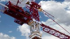Industrial tower construction, crane, timelapse Stock Footage
