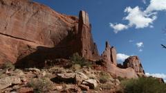 Utah Canyon Pan Time Lapse Stock Footage