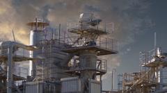 Industry landscape, timelapse Stock Footage