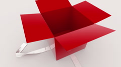 Gift Box Opening Stock Footage