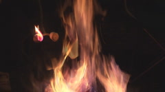 Marshmellows Campfire Camping Stock Footage