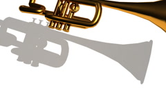 T300 trumpet music musical instrument falling Stock Footage