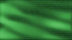 Green Data Flow Stock Footage