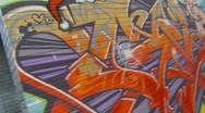 Graffiti hand-held multi moves, colorful  Stock Footage