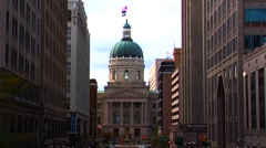 Indianapolis City Street - stock footage