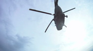 Stock Video Footage of Parachutist falling down from the helicopter slow motion