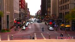 Indianapolis City Street Stock Footage