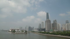 Guangzhou Skyline (Panning) Stock Footage