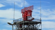 Stock Video Footage of AIRPORT RADAR TOWER