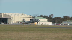 Seahawk landing Manoeuvre Stock Footage