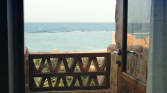 Sea view from balcony Stock Footage