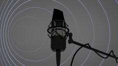 T300 radio mic radio station loop looping cg microphone studio Stock Footage