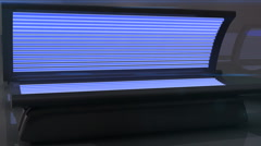 T300 tanning bed beds salon machine machines Stock Footage