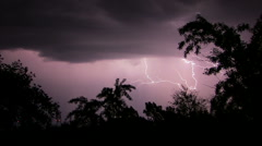 Lightning. Flash of light in night sky - stock footage