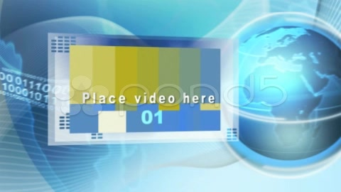 After Effects Project - Pond5 globe bg with frames 905392