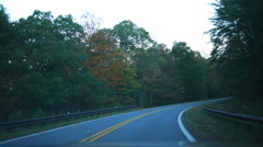 Driving on a Winding Alabama Road Stock Footage