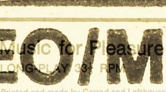 vinyl graphics dj music audio sound stereo turntables records - stock footage