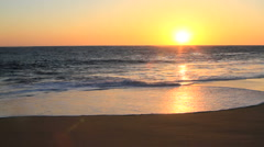 Sunset over Los Cabos, Mexico Ocean Waves Stock Footage