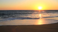 Stock Video Footage of Sunset over Los Cabos, Mexico Ocean Waves