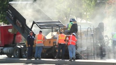 HIGHWAY PAVING MACHINE Stock Footage