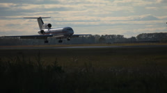 jet landing - stock footage