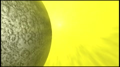 Moon close up flyby  24p Stock Footage