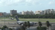 USAF C17 Global Master and C130 taking off 1 Stock Footage