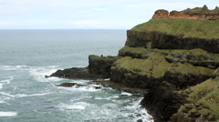 Ireland - Cliffs near Giant's Causeway - stock footage