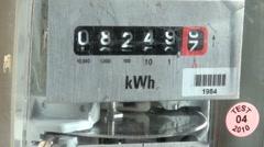 Meter Turning Stock Footage