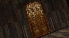 Wooden Door Stock Footage