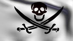 Flag of pirate2 Stock Footage